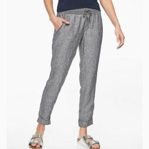 Athleta Bali 100% Linen Pants 8